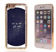 Look Up Design Luxury Hybrid Bling Glitter Sparkle With Crystal Rhinestone Case for iPhone 6