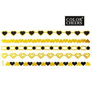 1Pc Gold and Black Long Bracelet Tattoo Sticker 23x10CM