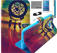 COCO FUN® Chinese Knot Pattern PU Leather Case with Film and USB Cable and Stylus for Samsung GALAXY Grand Prime G530