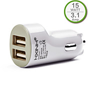 Dual USB In Car Charger for iPhone 6 iPhone 6 Plus,iPad and Other Mobile Device, Output 3.1A