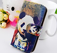 Clip Smoke Around The Panda Pu Leather Case for Samsung Galaxy S2  I9100
