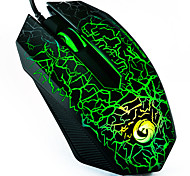E-Sports Gaming Mouse/High Precision 1200 DPI Colorful Light Wired USB Optical Gaming Mouse with Side Control