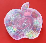 Acryl-Perlen in Apfelform Kunststoffbox sortierte Farbe und Form scherzt Spielzeuggeschenk diy Perlen zur Herstellung von