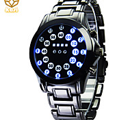 Men's Round Dial Creative Watches LED Flashlight Quartz Watch Fashion Wrist Watch (Assorted Colors)