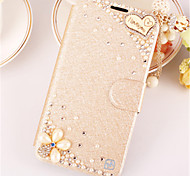 PU Leather Graphic  Diamond Look Full Body Cases Jewel Covered Cases Cases with Stand For Samsung Galaxy A5