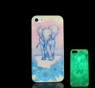 Elephant Pattern Glow in the Dark Cover for iPhone 4 / iPhone 4 S Case