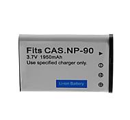 1050mAh bateria da câmera para CASIO NP-90