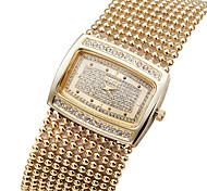 Fashion Luxury Crystal Rhinestone Brass Chain Band Womens Ladies Wrist Quartz Bracelet Bangle Watch