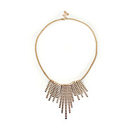Golden Tassels Short Necklace