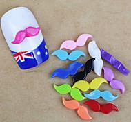 12PCS Moustache Nail Art Decorations