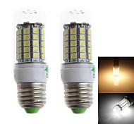 Zweihnder QR-E27-59 E27 6W 500lm 3000/6000K 59 x 5050 SMD Cool/Warm White Corn Light  (AC 220-240V,2Pcs)