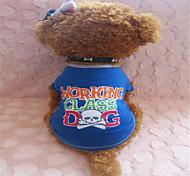 Cães Camiseta Azul Verão Caveiras