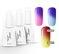 azur 3 pièces gel de nail art ongles tremper hors changement de couleur de vernis de soin des ongles (12ml, n ° 16 + 17 + # # 18)