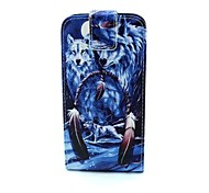 Wolf Pattern PU Leather TPU Full Body Case with Card Holder for Samsung  Galaxy S6