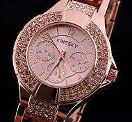 cadran rond cas montre en plastique de la montre à quartz marque de mode des femmes (plus de couleurs disponibles)