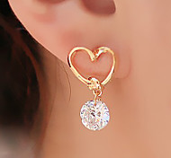 European Style Fashion Love Heart Rhinestone Earrings