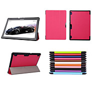 10.1 Inch Triple Folding Pattern High Quality PU Leather for Lenovo TAB 2 A10 A10-70 (Assorted Colors)
