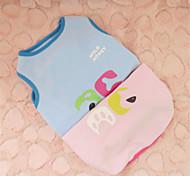 Dog Shirt / T-Shirt Blue / Pink Winter Cartoon