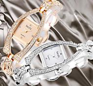 Luxury Fashion Womens Lady Wrist Quartz Bracelet Bangle Watch Crystal Bling Rhinestone Diamond Skeleton Band