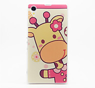 Cute Calf Pattern Plastic Hard Back Case Cover for Sony Z1