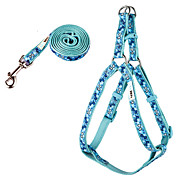 Dog Bone Pattern Harness and Leash Set  for Pet Dogs (Assorted Sizes)