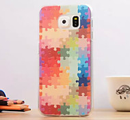 For Samsung Galaxy Case Pattern Case Back Cover Case Geometric Pattern TPU Samsung S6 edge