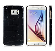 Crocodile Pattern Plastic Protective Case for Samsung Galaxy S6