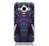 elephant pattern slim TPU Material Softphone für Samsung-Galaxie j1