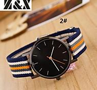 Women's Fashion Diamond Strip Quartz Analog Nylon Belt Wrist Watch(Assorted Colors) Cool Watches Unique Watches