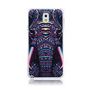 patrón de elefante TPU cubierta trasera suave para Samsung Galaxy Note 3