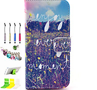 Symbol Pattern PU All Inclusive With Slot Case and Stylus Pen Dust Plug Bracket Assembly for iPhone 6