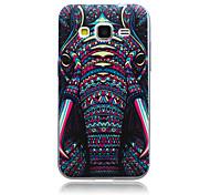 elephant pattern slim TPU Material weich Telefonkasten für Samsung-Galaxie-Kern prime G360