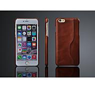 масло воск шаблон из натуральной кожи задней стороны обложки для iphone 6с плюс / 6 плюс