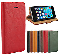 Magnetic Bark Grain PU Leather Flip Skin Cover Wallet Card Slot Case Stand for iPhone 5/5S (Assorted Colors)