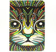 Katzenkopf-Muster PU-Leder Ganzkörper-Fall mit Einbauschlitz und stehen für Samsung Galaxy Tab 9.7 einen T550