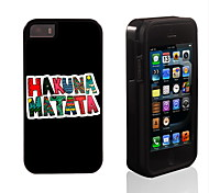 HAKUNA MATATA Pattern 2 in 1 Hybrid Armor Full-Body Dual Layer Shock-Protector Slim Case for iPhone 5/5S