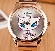 Couple's Round Dial Case Silicone Watch Brand Fashion Quartz Watch