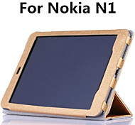 "Manget Sleep/Wake Silk Grain Folio Stand Leather Shell Cover Protective Case For Nokia N1 7.9"" Tablet (Assorted Colors)"