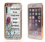 el brillo brillo híbrido patrón de flores de lujo Bling con la caja de diamantes de imitación de cristal para el iphone 6