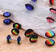 10pcs Plastic Fake Ear Stretcher Studs Plugs Piercing Earrings 10mm