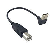 Up Angled 90 degree USB 2.0 Male to B type Male Cable for Printer scanner Hard Disk 20cm