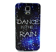 COCO FUN® Walking In The Rain Pattern Soft TPU IMD Back Case Cover for Samsung Galaxy S5 I9600