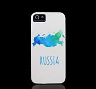 cobertura padrão de estilo russo para iphone 4 / iphone 4 s caso
