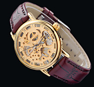 New Women's  HOT Luxury MCE Leather Sports Wrist Watch Hand-Winding Mechanical Skeleton Watches Free HK Post