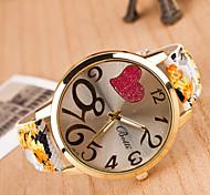 Women's Watches  Digital Art Leisure Fashion Watch Pastoral Style Ladies Watch Heart Strap Watch