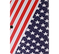 usa nationale vlag foto pu leer full body TPU geval is met kaarthouder voor Samsung Galaxy T530 / tab 4