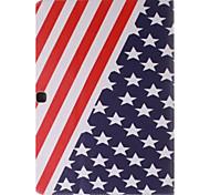 USA-Staatsflagge Bild PU-Leder Ganzkörper TPU Fall mit Kartenhalter für Samsung-Galaxie T530 / tab 4