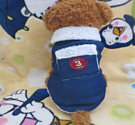 Dog Shirt / T-Shirt / Clothes/Clothing Blue Winter Jeans