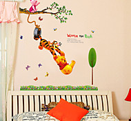Cartoon Winnie The Pooh Swinging PVC Wall Sticker Wall Decals