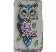 Owl Pattern PU Leather Phone Case For  Sony Xperia E1